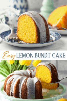 Lemon Bundt Cake Recipes Using Cake Mix, Box Cake Recipes, Dessert Recipes, Fruit Recipes, Cupcake Recipes, Bundt Cake Mix Recipe, Duncan Hines Lemon Bundt Cake Recipe, Lemon Desserts, Easy Desserts