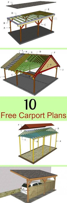How To Build A Timber Lean To Carport House Pinterest Carport Ideas Car Ports And Yards