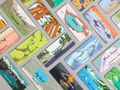 Design: 59 National Parks in Miniature. Designer: Julia Kuo. Series: Take the Edge Off #TakeTheEdgeOff