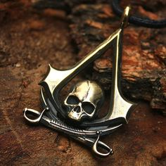 Bronze Assassin's Creed Skull Swords Insignia from Etsy. Freaken badass