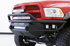 Road Armor SA4084B-NW Front Sahara Non-Winch LED Bumper Dodge RAM 2500/3500 2010-2017