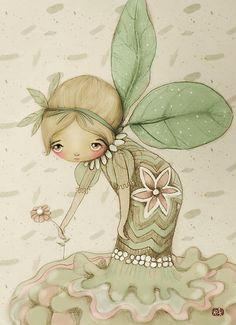 ''Little Leaf Fairy'' by Australian artist Karin Taylor