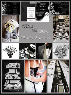 Black and White Wedding Inspiration Board