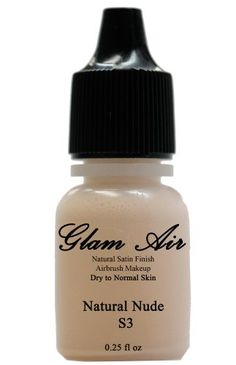 Glam Air Airbrush foundation makeup S3 Natural Nude Satin Foundation Waterbased Makeup 981 Ideal for Fairlight Normal to Dry Skin >>> To view further for this item, visit the image link.