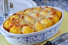 Rakott puliszka 🍴 Cod Fish, Polenta, Ravioli, Macaroni And Cheese, Casserole, Food And Drink, Potatoes, Vegetables, Cooking