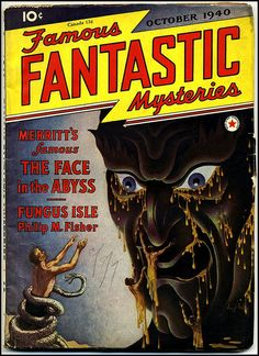 Virgil Finlay - Famous Fantastic Mysteries, October 1940, via Flickr.