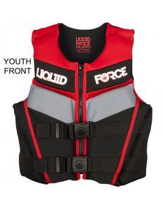 Liquid Force Fury Kids Life Vests Black and Red ----- #wakesurf #wakesurfing #liquidforce #wakeboard #wakeboarding #lifevest