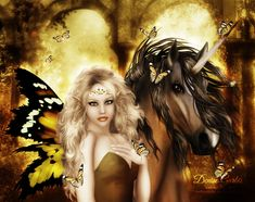 The Dawning by DeniseGarbis on deviantART #Unicorn #Fantasy