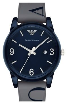 Emporio Armani Silicone Strap Watch