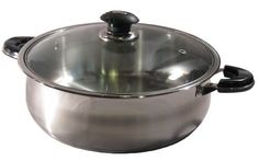 8 Qt Quart 18/10 Stainless Steel Encapsulated Base Casserole Low Pot with Glass Lid by Ballington. $59.99. Thick Aluminum Capsulated Base for Even Heat Distribution.. Quality 18/10 Stainless Steel with Glass Lid.. Dishwasher Safe. Cadmium Free.. Tempered Glass Lid with Air Vent.. Soft Touch Stylish Phenolic & Stainless Handles are Riveted Securely to the Pot.. This Covered Casserole Pot is Great for Stewing, Paella, Arroz con Pollo, or any other One-dish Casse...