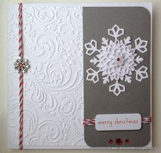 Handmade snowflake Christmas carrd by CardsbyBrawny on Etsy, £2.50