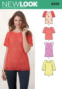 Purchase the New Look 6225 Misses' Tops in Two Lengths sewing pattern and read its pattern reviews. Find other Tops sewing patterns.
