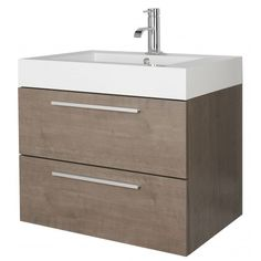 Wall Mounted Basin And Cabinet 690mm Brand Premier Bathroom Collection By Ultra