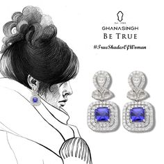 Let the ocean's blue caress your ears. All eyes will be on you with this piece of diamonds and sapphires. ‪#‎TrueShadesOfWomen‬