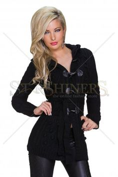 Intuitive Note Black Jacket Blazer Jacket, Leather Jacket, Great Cuts, How To Get Warm, Warm Sweaters, Warm Outfits, Clothing Items, Note, Stylish