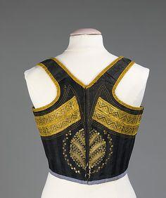 19th century.Swiss silk, metal, cotton.