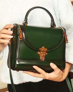 d7529c50e050 Genuine Leather handbag doctor bag shoulder bag for women leather bag
