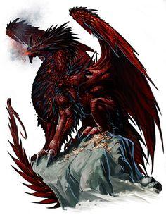 Ancient Red Dragon by *BenWootten on deviantART