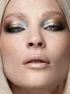 "Dramatic Eye Makeup Looks to Die For Metallics: ""mixed metals"" and nude glossy lips. 15 Dramatic Eye Makeup Looks to Die For Dramatic Eyes, Dramatic Eye Makeup, Makeup Trends, Makeup Inspo, Makeup Inspiration, Makeup Ideas, Makeup Tips, Makeup Tutorials, Makeup Basics"