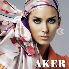 #مد #فشن #پوشاک #آکر Kerchief, Silk Scarves, Head Wraps, Headpiece, Shawl, Hijab Fashion, Womens Fashion, Pretty, Pattern