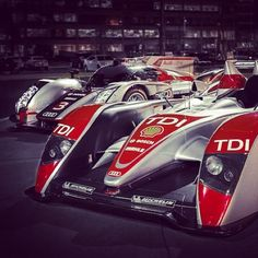 CARS - Two legends of #LeMans in one place... The Audi R10 #TDI and Audi R18 Ultra together for a rare... - http://lesvoitures.fr/two-legends-of-lemans-in-one-place-the-audi-r10-tdi-and-audi-r18-ultra-together-for-a-rare/