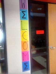 Math = Love: Free Printable Math-y Welcome Banner