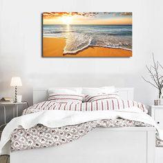 Brilliant Ocean Beach Sunrise Seascape Canvas Print Modern Home Decor Wall Art Modern Canvas Art, Canvas Wall Art, Cheap Canvas Prints, Hanging Wall Art, Hanging Canvas, Beach Wall Art, Home Decor Wall Art, Modern Design, Creative Design