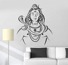 Us 733 26 Off Art Wall Sticker India God Wall Decoration Religion Home Decor Modren Decal Vinyl Removeable Poster Lord Shiva Hinduism In Wall Wall Stickers India, Lord Shiva Sketch, Shiva Tattoo Design, Wall Painting Decor, Blue Painting, Shiva Art, Shiva Shakti, Hindu Art, Lord Shiva Painting