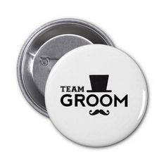Team Groom Wedding Favours Pin Badges 25 Button Pin by Bubbleprint