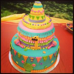 Newest creation. A fiesta themed cake!