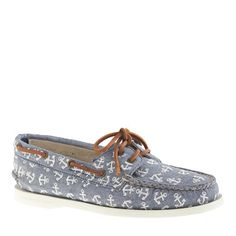 J.Crew - Sperry Top-Sider® for J.Crew Authentic Original 2-eye boat shoes in anchor chambray @J.Crew... LOVE!!