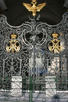 Winter Palace Gates - St-Petersburg, Russia