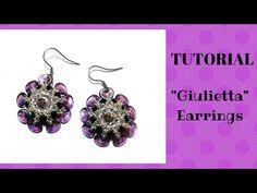 """Tutorial:come realizzare un paio di orecchini """"Giulietta"""" con i petali di rosa - YouTube"""