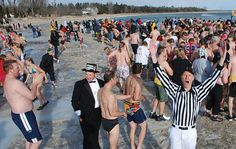 Jacksonport Polar Bear Plunge - New Years Day. http://www.doorcounty.com/newsletter/2013/12/resolve-to-do-something-a-little-different-this-year/