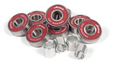 #Andale Mariano Hot Sauce Skateboard Bearings #Warning! Hot contents!Bring the heat with these Andale Mariano Bearings.Pre-lubricated for the hottest ride possible, The guys at Andale are definitely spicing things up with this Hot Sauce skateboard wax casing holding together the precision bearings.Specifications:One set of eight Andale BearingsPrecision Rating8mm core, 22mm outer diameter, 7mm widthPre-lubricatedIncludes Wax!