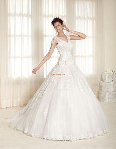A-vonalú Tüll Menyasszonyi ruhák 2015