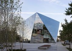 This six-sided building covered in mirrors is the new home for the Museum of Contemporary Art Cleveland in Ohio