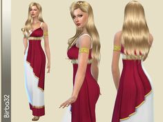 The Sims Resource: Impero dress by Birba32 • Sims 4 Downloads