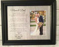 Personalized Wedding Frames by WeddingFramesByDiane on Etsy Wedding Groom, Rustic Wedding, Wedding Day, Wedding Gifts For Parents, Gifts For Mom, Personalized Wedding Gifts, Customized Gifts, Wedding Frames, Wedding Photos