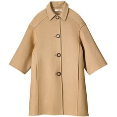 CAMEL COAT Melton wool coat, Michael Kors
