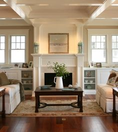 Warm whites in room, white slip covers (practical at all for us? Fad on the way out?), textures, color on accents