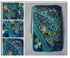 Case for the phone in the art crazy quilt