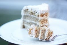 The best cake I've ever tried!!!! Paleo coconut vanilla cake w/ coconut cream frosting...so decadent!