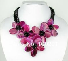 Beautiful wired wrap flower necklace for party, gift, and wedding MN-800 $67.13