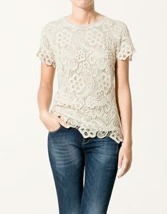 fbbed0f687a zara - lace body- LOVE this! LOVE! White Lace Blouse