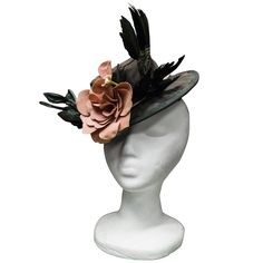 1940s Toy Floral Hat  | From a collection of rare vintage hats at https://www.1stdibs.com/fashion/accessories/hats/