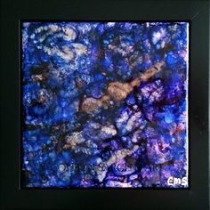 Blue Marble   $45  This beautifully painted 6x6 inch tile is mounted in a black frame, resulting in a final size of 8x8 inches.  The painting is sealed with a light coat of varnish for protection and is ready to hang. Sargent Art, Tile, Marble, Canvas, Coat, Frame, Painting, Black, Tela