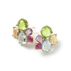 Rock Candy® 18K Gold Cluster Earrings Stud