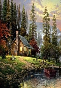 Cabin..Painting But So Pretty