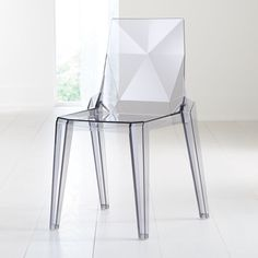 Sale ends soon. Clear and contemporary, this acrylic dining chair hints at color with a grey tint. The look is light and airy, but this molded chair provides a comfortable, supportive seat just like a traditional chair. Small Dining Room Furniture, Clear Dining Chairs, Acrylic Dining Chairs, Acrylic Chair, Black Dining Chairs, Kitchen Chairs, Find Furniture, Dining Room Chairs, Custom Furniture